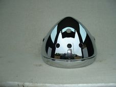 Headlight shell & rim ,chrome, with holes for 3 warning lights, and switch triumph, Norton, Genuine